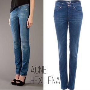 Acne jeans Hex in Lena straight leg long 34""